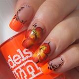 Hibiscus one stroke
