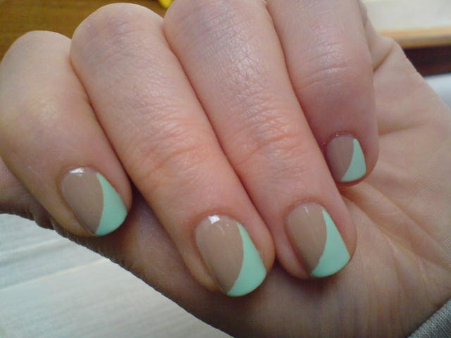 two colours - Nail Art Gallery