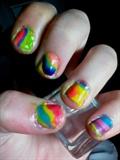 Rainbow tie dye nails