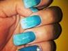 turquoise ombré