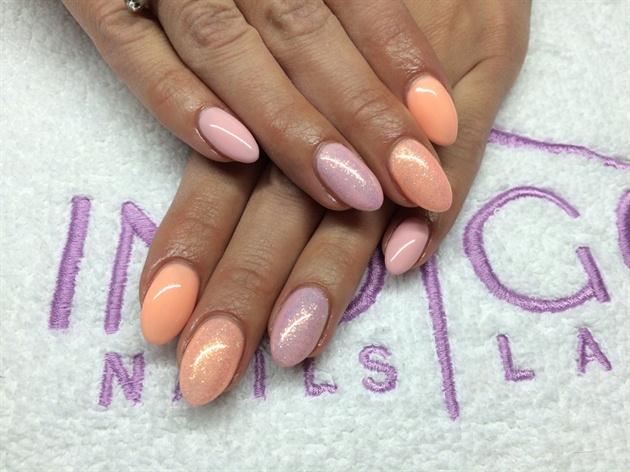 Pastel Peach & Pink With Mermaid