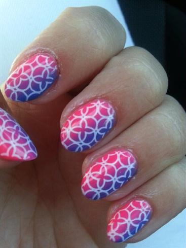 Neon Pink & Adriatic Pattern
