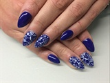 Navy Blue With Stamps