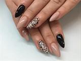 Black Beige Leopard
