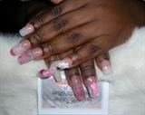 Pink water Nails