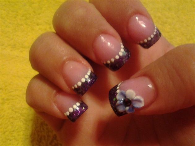 Purple glitter and flower