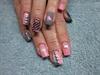 Chevron Studded Nails