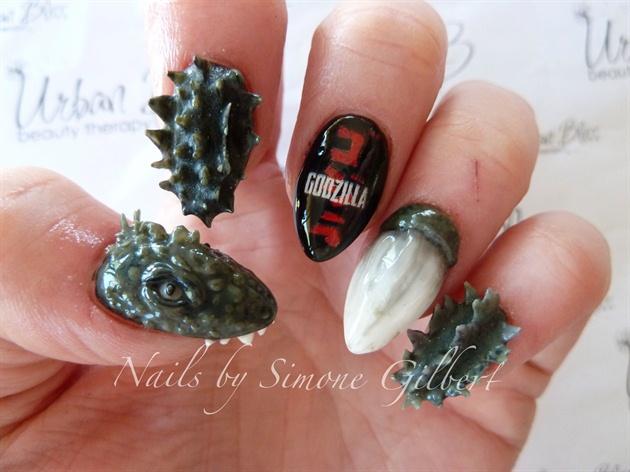 Godzilla Nail Art