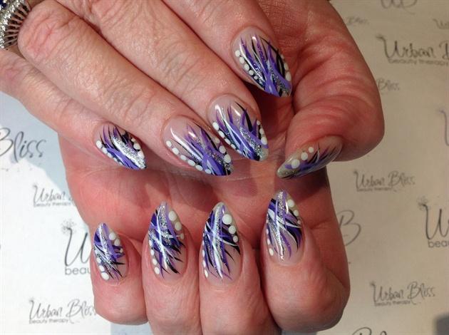 Hand Painted Purple