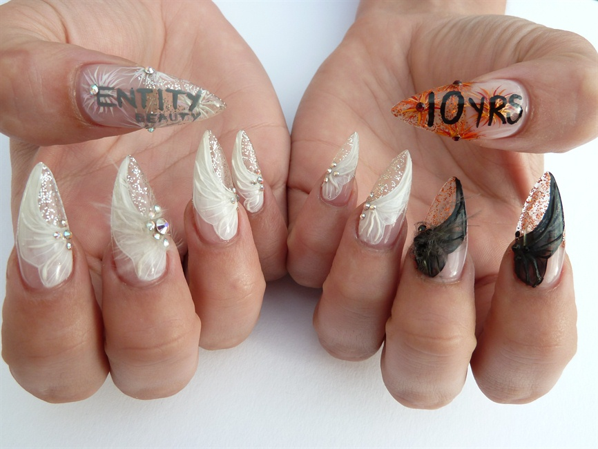 NTNA Week 5 Challenge - 10yrs of Entity - Nail Art Gallery Step-by ...
