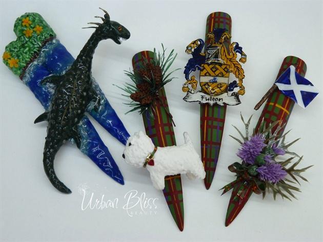 Scottish Heritage Nail Art