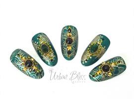 nail art: Emerald Jewel