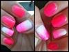 Summer Neon Glitter Nail Art