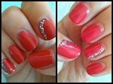 Red Glitter Nail Art