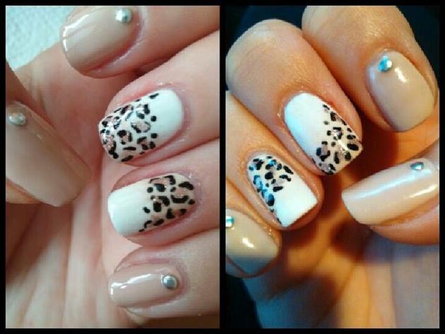 Cheetah Nude Nail Art