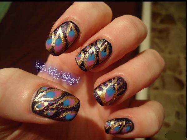 Nail art Cleopatra