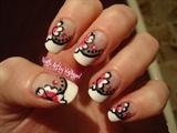 Nail art romantic flower