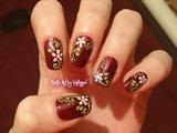 Nail art elegant flowers