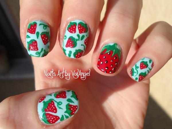 Nail art strawberry - Nail Art Strawberry - Nail Art Gallery