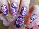Nail Art Spring one stroke