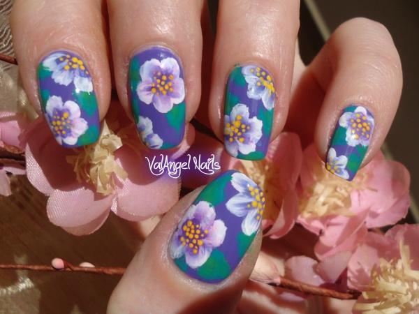 - Nail Art Hawaiian Flowers - Nail Art Gallery