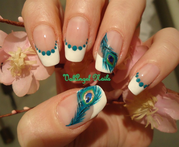 "Nail Art ""peacock feather"""