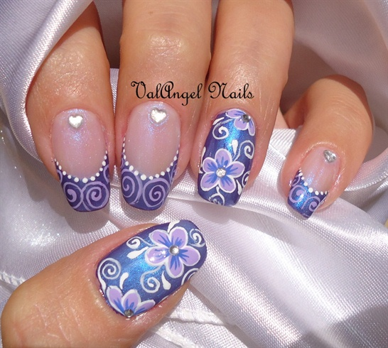 "Nail art ""Elegant Violet"""