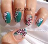 """Nail art """"Pink Floral"""""""