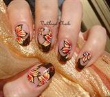 "Nail art ""Autumn Leaves"""