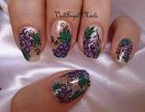 """Nail art """"Grapes"""""""