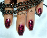 "Nail art ""Romantic goth"""