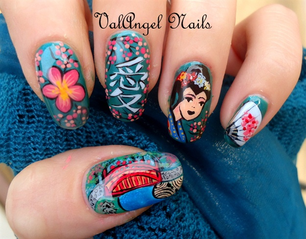 "Nail art ""Geisha"""