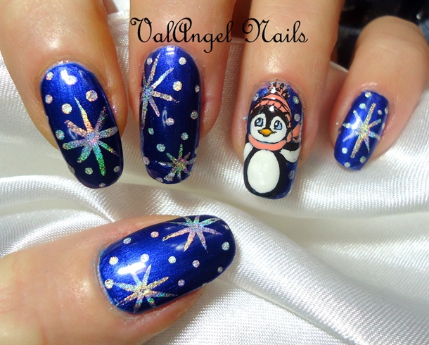 "Nail art ""Pinguino"""