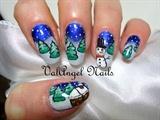 "Nail art ""Snowy Landscape"""