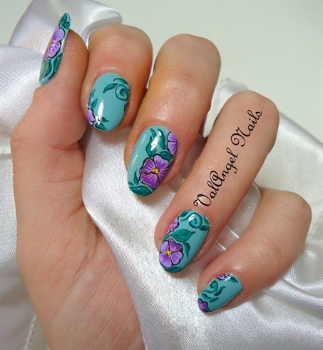 """Nail Art """"Pansies"""""""