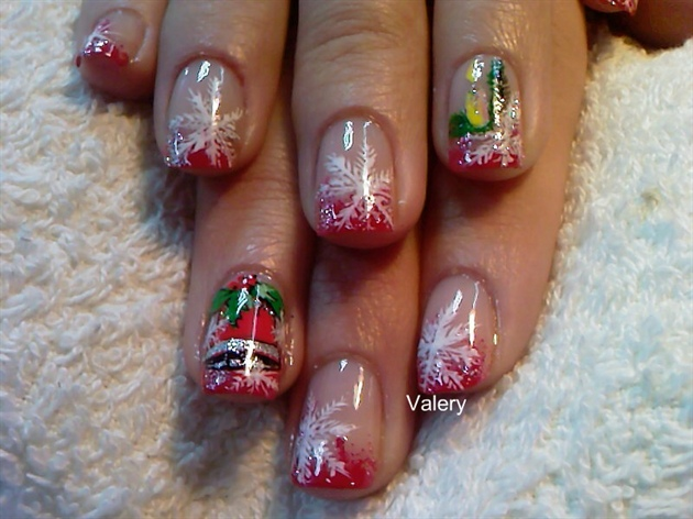 Christmas bell nail art gallery christmas bell prinsesfo Image collections