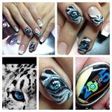 Tiger eyes nails