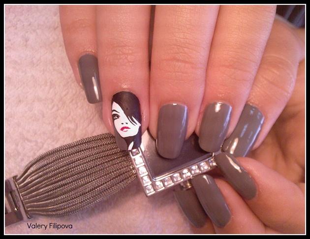 Маникюр девушка на ногтях