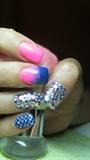 Blue, pink and diamonds