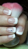 French manicure with snowflakes