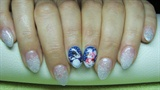 Nails with snowman and snowflakes