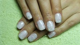 White nails with snowflakes