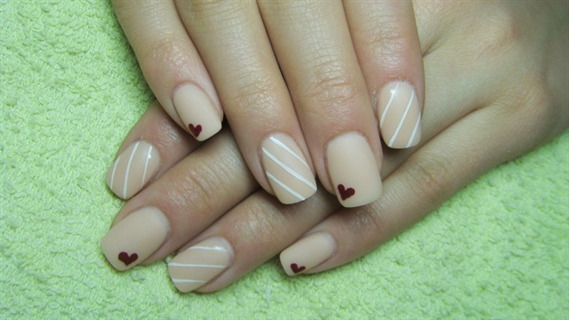Nude Beige Matte Nails