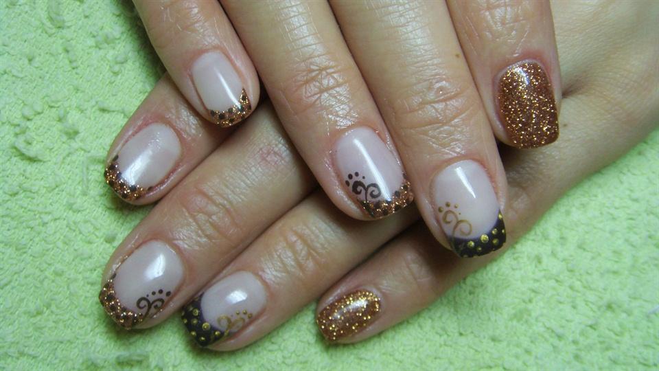 Brown And Gold Nail Art Ideas : Brown and gold nails nail art gallery