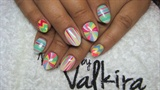 Summer abstract nails