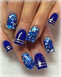 Royal Blue Acrylic And Glitters