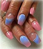 Rose  & Blue  Acrílico Color