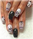 Love Valentines Day Nail Art