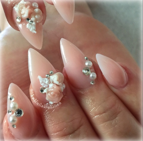Inm Cover Pink Acrylic Nails