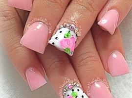 Soft pink Acrylic Nails